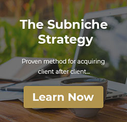 The Subniche Strategy CTA